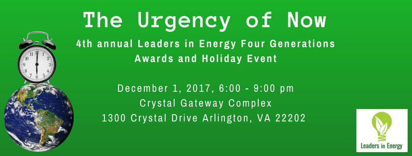 Louise Meyer wins the Leaders in Energy Award